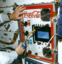 coke on shuttle