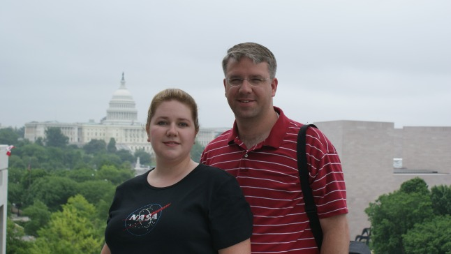 Our official anniversary picture, from the observation deck on the sixth floor of the Newseum