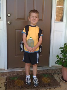 The first day of kindergarten