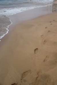 "My own ""footprints in the sand"" photo"